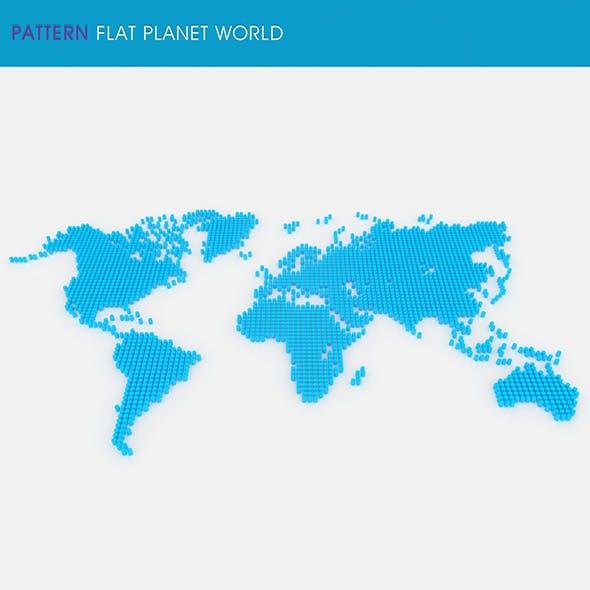 Pattern Flat Planet World