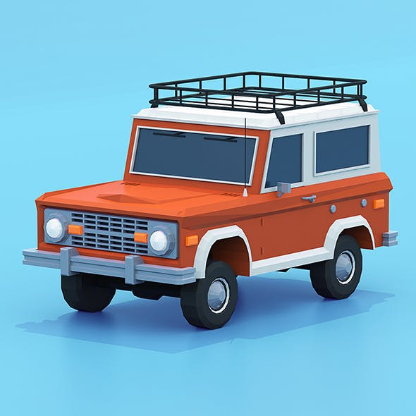 Bronco low poly - 3DOcean Item for Sale