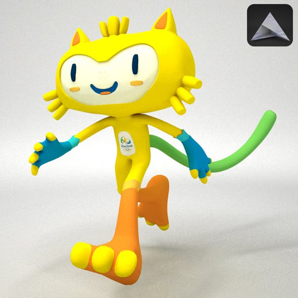Vinicius Rio 2016 Olympic Games Mascot - 3DOcean Item for Sale