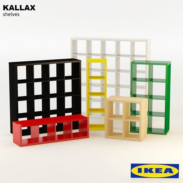 Ikea Kallax Shelves - 3DOcean Item for Sale