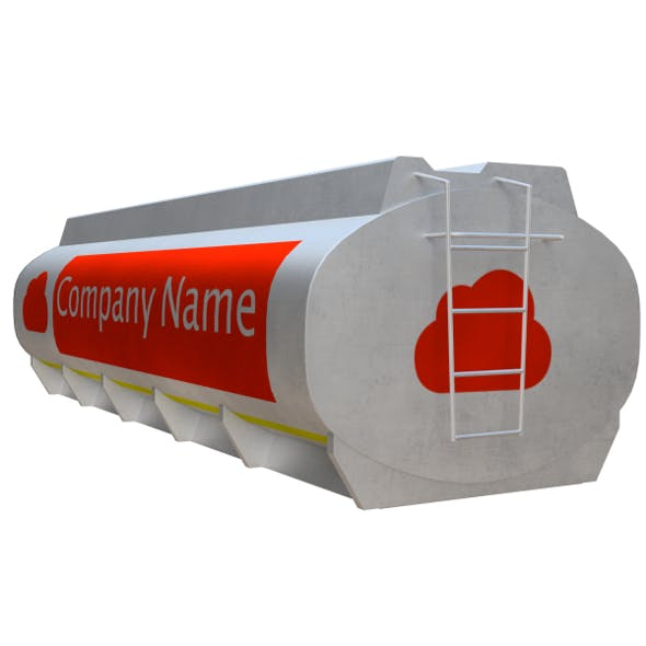 Gasoline Tanker (PBR, UV-textured) - 3DOcean Item for Sale