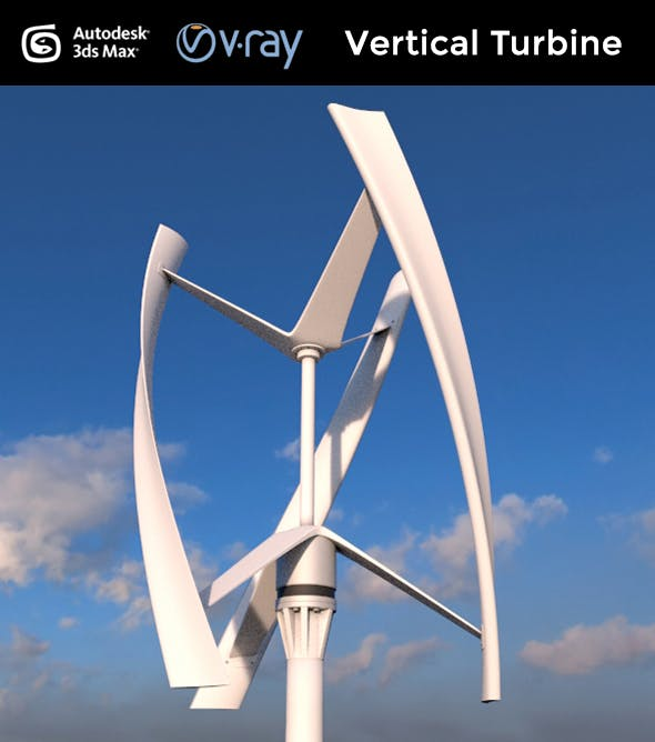 Vertical Wind Turbine - 3DOcean Item for Sale