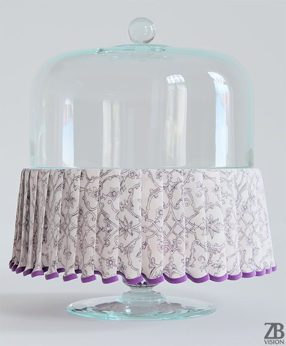 Cake Plate with Cloth - 3DOcean Item for Sale