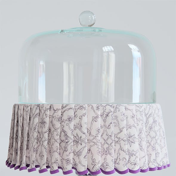 Cake Plate with Cloth