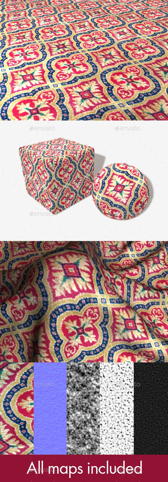 Old Style Carpet Seamless Texture - 3DOcean Item for Sale