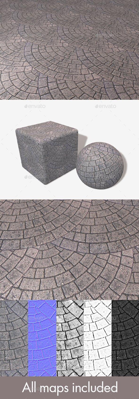 Brick Paving Circle Pattern Seamless Texture - 3DOcean Item for Sale