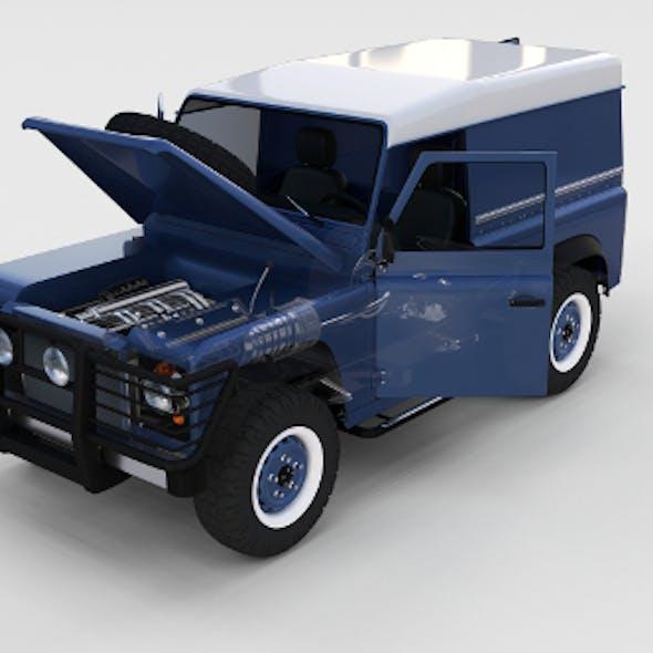 Full Land Rover Defender 90 Hard Top seethrough rev