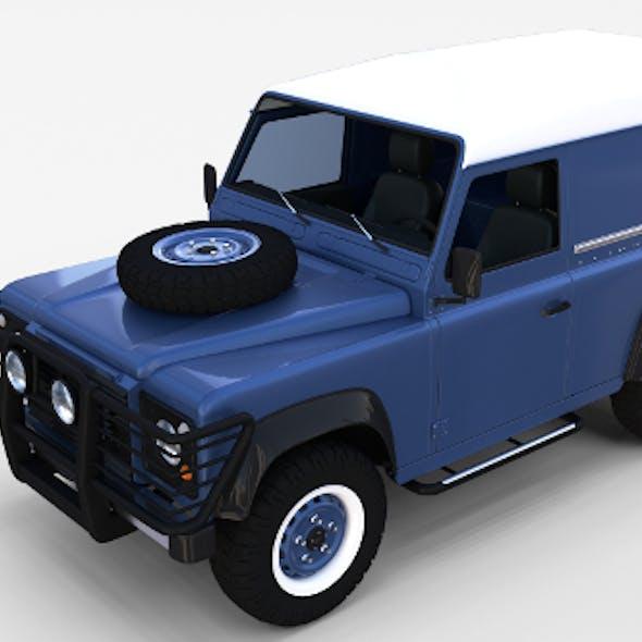 Land Rover Defender 90 Hard Top w interior rev