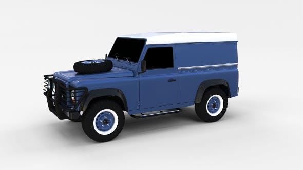 Land Rover Defender 90 Hard Top rev - 3DOcean Item for Sale