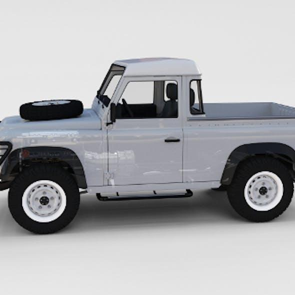 Full Land Rover Defender 90 Pick Up Seethrough