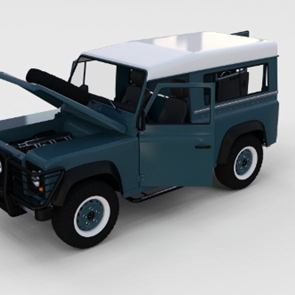 Full Land Rover Defender 90 Station Wagon rev