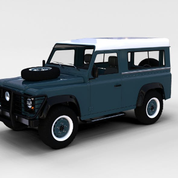 Land Rover Defender 90 Station Wagon w interior rev