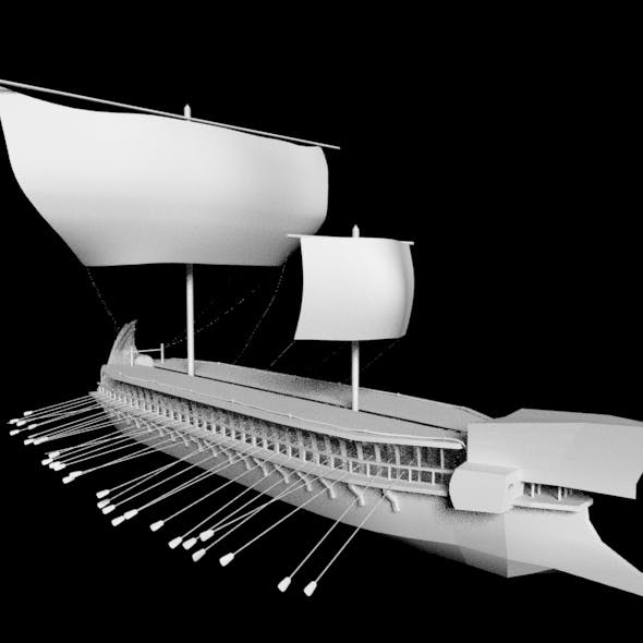 Ancient greek ship - 3DOcean Item for Sale