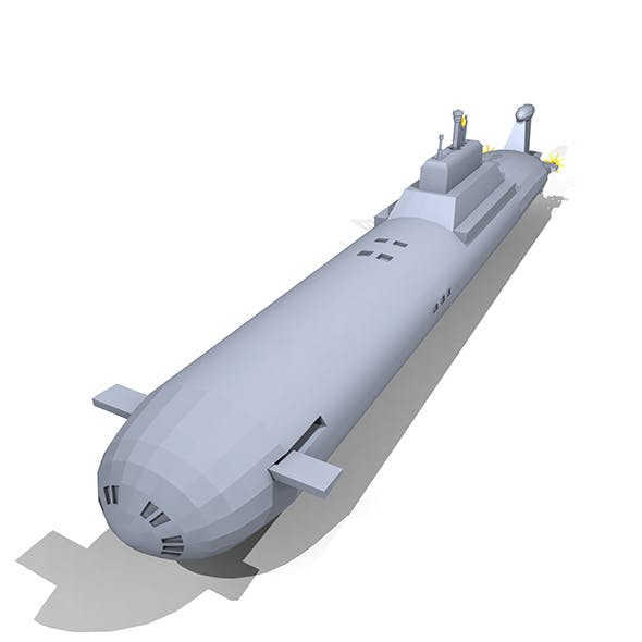 Lowpoly Red October Submarine  - 3DOcean Item for Sale