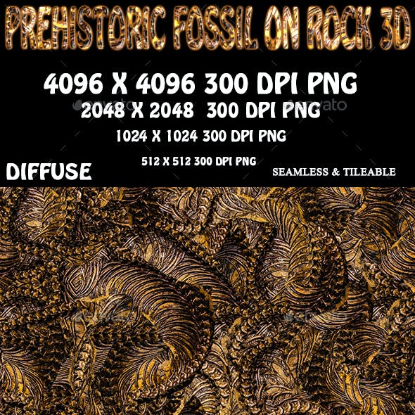 Prehistoric Fossil Background 3D