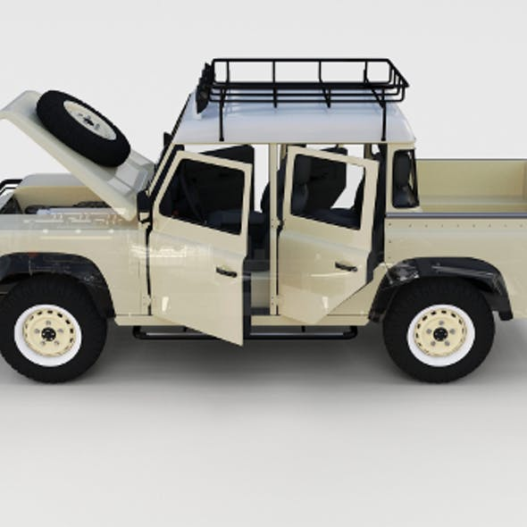 Full Land Rover Defender 110 Double Cab Pick Up rev