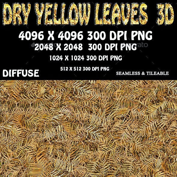 Dry Yellow Leaves 3D