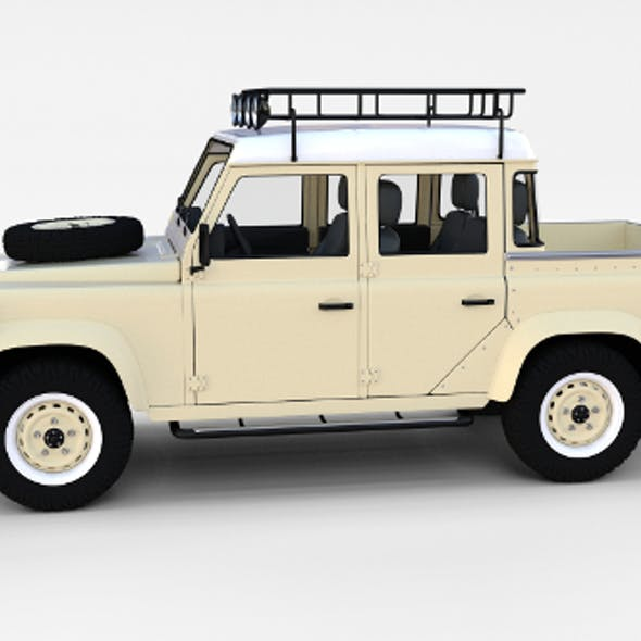 Land Rover Defender 110 Double Cab Pick Up w interior rev