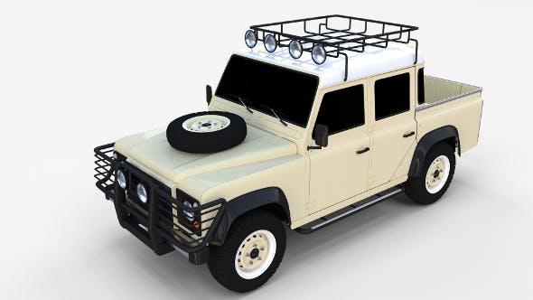 Land Rover Defender 110 Double Cab Pick Up rev - 3DOcean Item for Sale