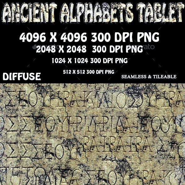 Ancient Alphabets Tablet 3D