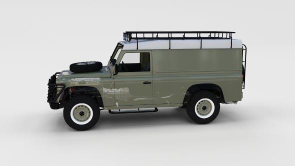 Full Land Rover Defender 110 Hard Top rev - 3DOcean Item for Sale