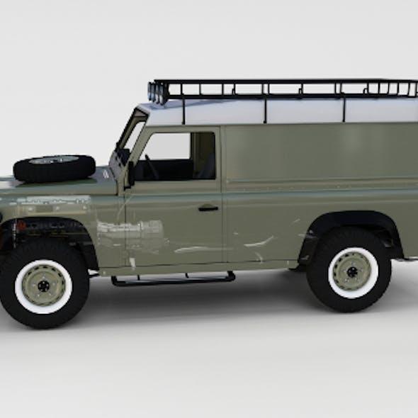 Full Land Rover Defender 110 Hard Top rev