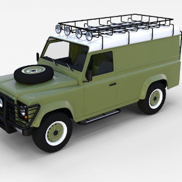Land Rover Defender 110 Hard Top w Interior Rev