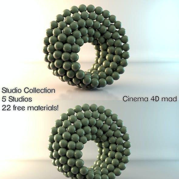 5 Studios & 22 Materials C4D