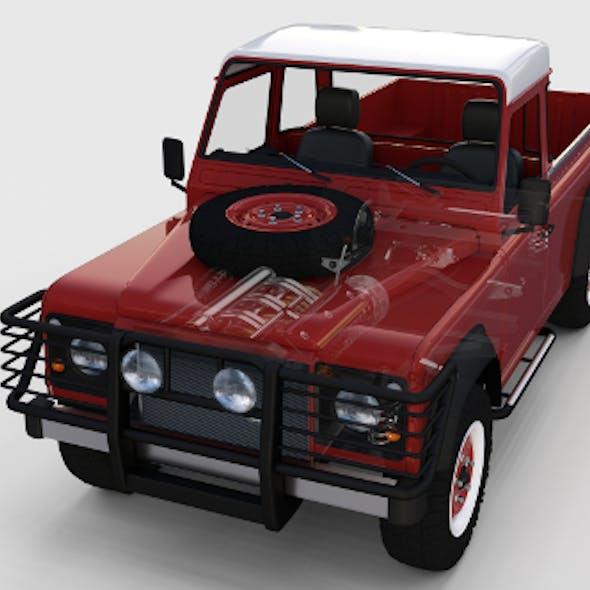 Full Land Rover Defender 110 Pick Up rev