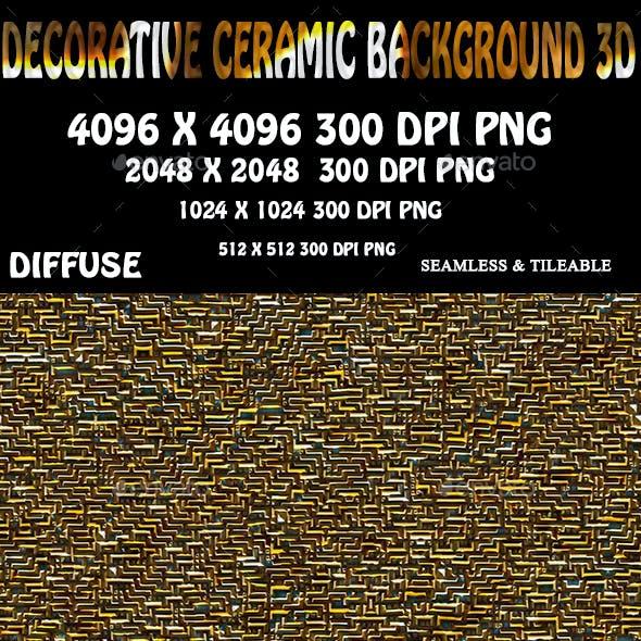 Decorative Ceramic Stone Background 3D
