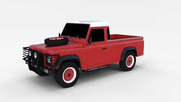 Land Rover Defender 110 Pick Up rev - 3DOcean Item for Sale