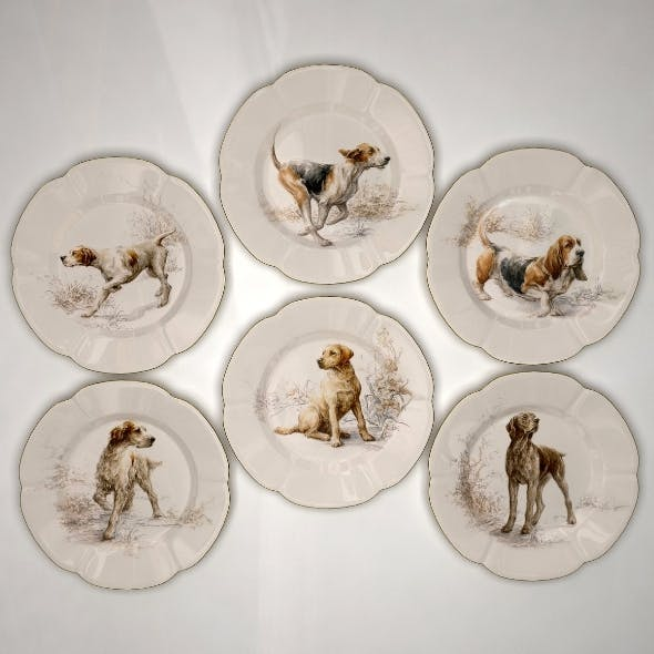 Collector Plates Hunting Dogs 1