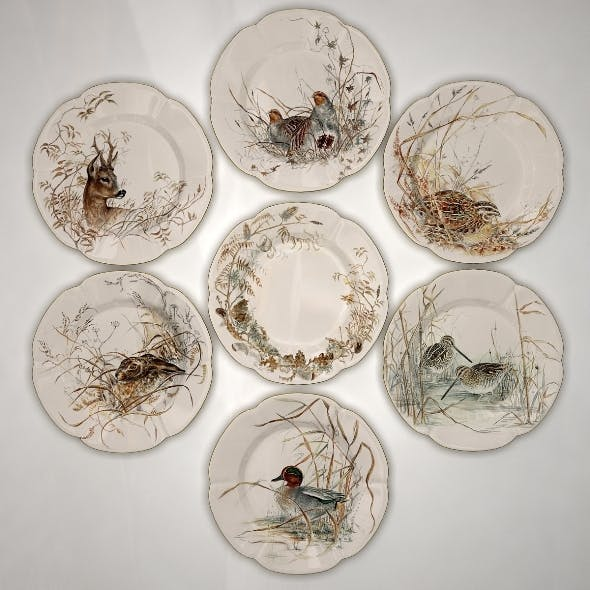 Collector Plates Nature Set - 3DOcean Item for Sale