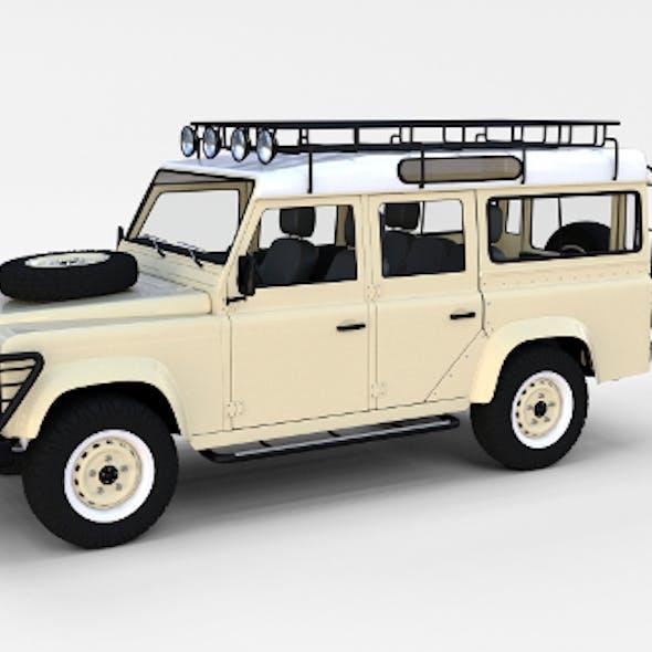Land Rover Defender 110 Station Wagon w interior rev