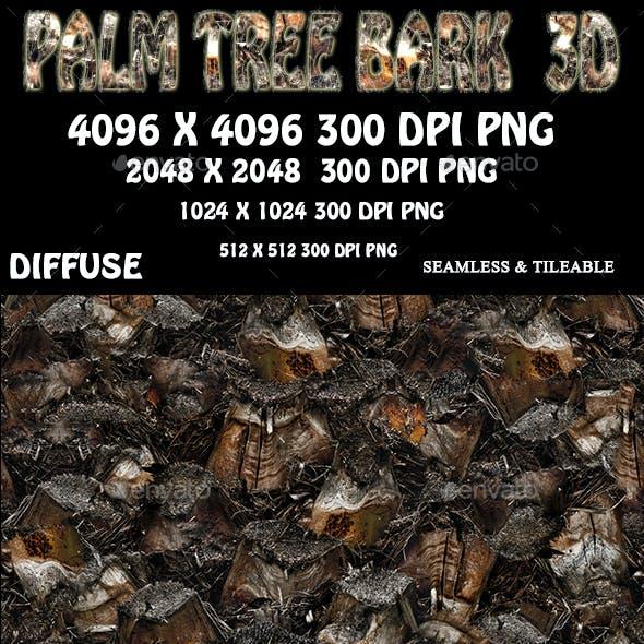 Palm Tree Bark 3D Texture