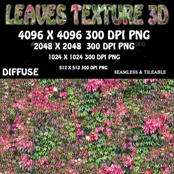 Leaves Nature Texture 3D
