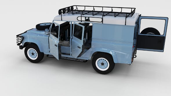 Full Land Rover Defender 110 Utility Station Wagon rev - 3DOcean Item for Sale