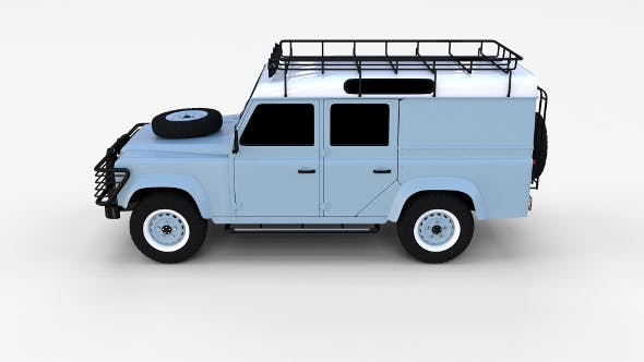 Land Rover Defender 110 Utility Station Wagon rev - 3DOcean Item for Sale