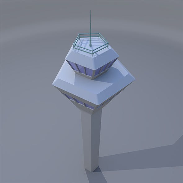 Lowpoly Control Tower - 3DOcean Item for Sale