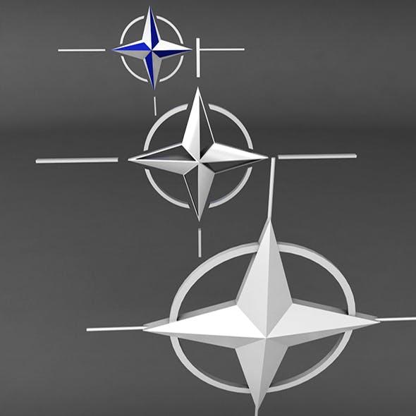 Nato Logo Symbol Low Poly Pack