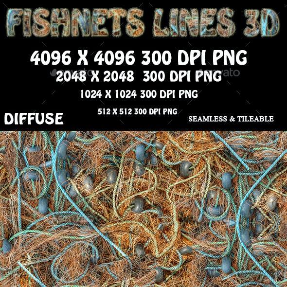 Fishnet Fishing Lines 3D