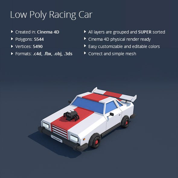 Low Poly Racing Car