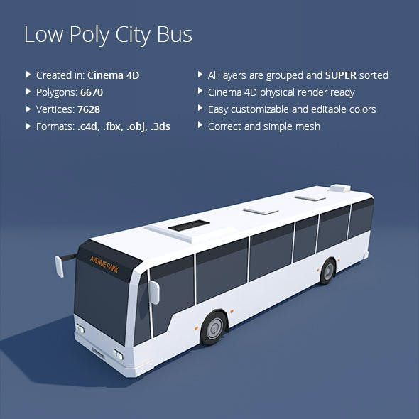 Low Poly City Bus