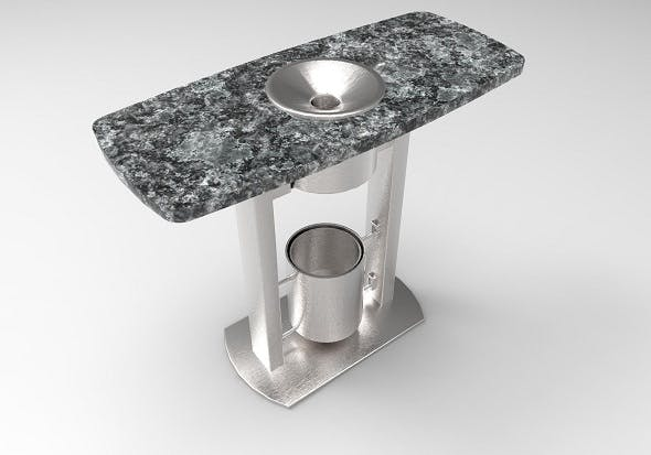 Table with ashtray - 3DOcean Item for Sale