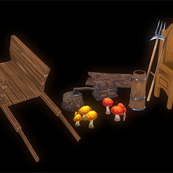 Hand-Painted Props Pack