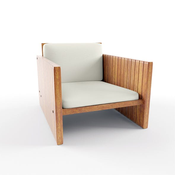 Wood Balcony Chair - 3DOcean Item for Sale