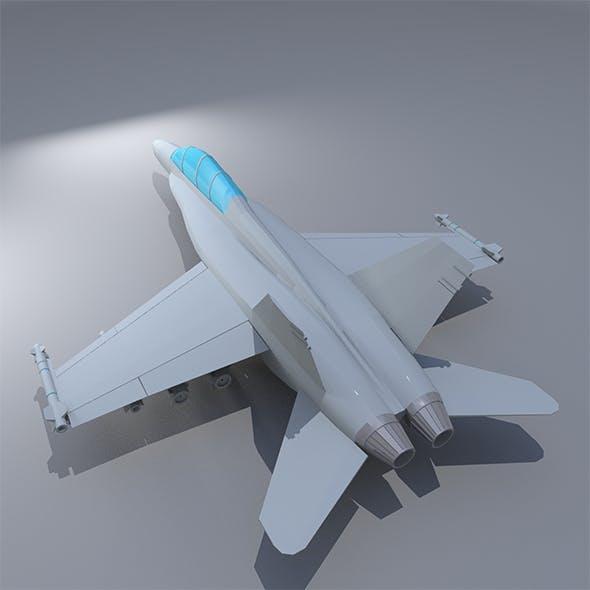 Lowpoly F-18 Hornet
