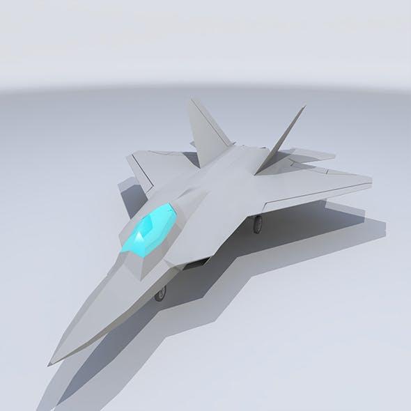 Lowpoly F-22 Raptor