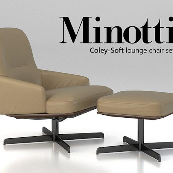 Minotti Coley-Soft lounge chair set