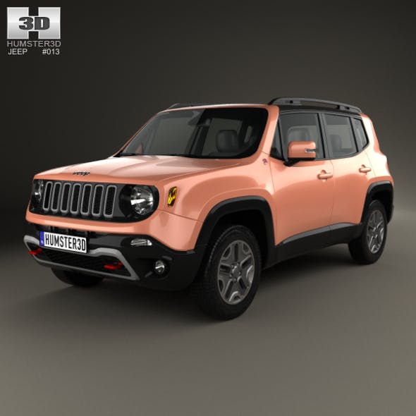 Jeep Renegade Trailhawk 2015 - 3DOcean Item for Sale